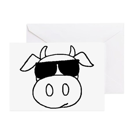 Cow Head Greeting Cards (Pk of 10)