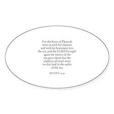 EXODUS 15:19 Oval Decal