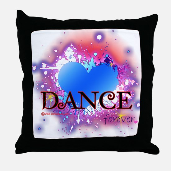 Love Dance Forever Throw Pillow