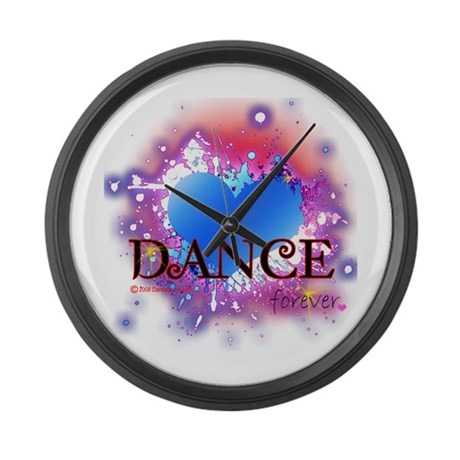 Love Dance Forever Large Wall Clock