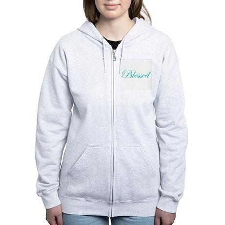 Aqua Blessed Women's Zip Hoodie