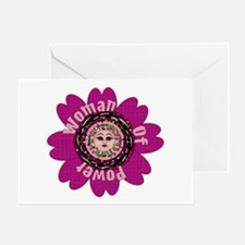Woman Of Power Flower Greeting Card