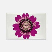 Woman Of Power Flower Rectangle Magnet