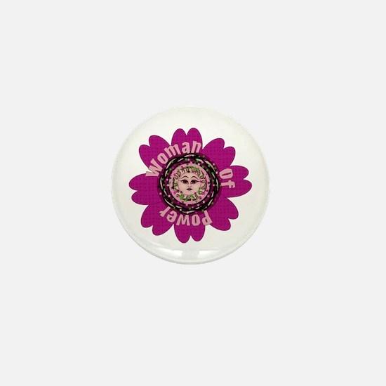 Woman Of Power Flower Mini Button