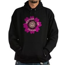 Woman Of Power Flower Hoodie