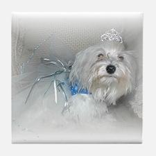 Puppy Princess Tile Coaster