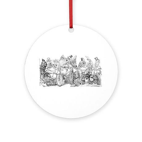 Calaveras en Bicicleta Ornament (Round)
