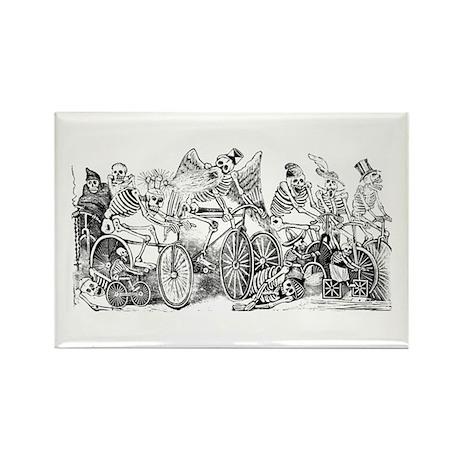 Calaveras en Bicicleta Rectangle Magnet