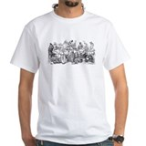 Day of dead skulls Mens White T-shirts