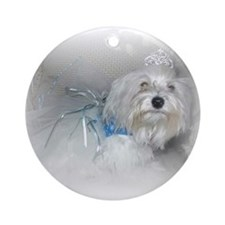 Puppy Princess Ornament (Round)
