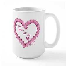 Memory Rose Heart, right handed Mug