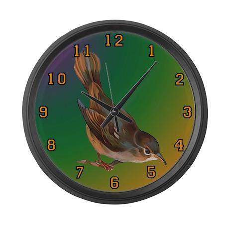 nightingale two Large Wall Clock