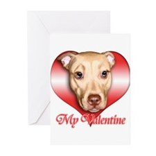 Pit Bull Valentine Greeting Cards (Pk of 10)