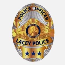 Lacey Police Oval Ornament