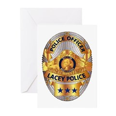 Lacey Police Greeting Cards (Pk of 20)