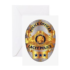 Lacey Police Greeting Card