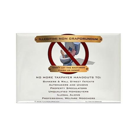 Illegitimi non craporundum Rectangle Magnet (10 pa