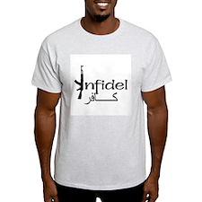 Infidel Ak47 (Arabic Text) T-Shirt