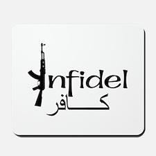 Infidel Ak47 (Arabic Text) Mousepad