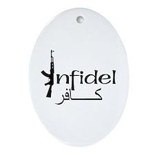 Infidel Ak47 (Arabic Text) Oval Ornament