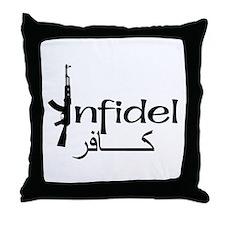 Infidel Ak47 (Arabic Text) Throw Pillow