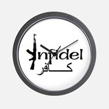 Infidel Ak47 (Arabic Text) Wall Clock