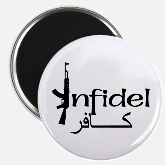 "Infidel Ak47 (Arabic Text) 2.25"" Magnet (10 pack)"
