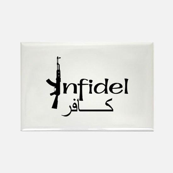 Infidel Ak47 (Arabic Text) Rectangle Magnet