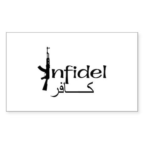 Infidel Ak47 (Arabic Text) Rectangle Sticker