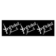 Infidel Ak47 (Arabic Text) Bumper Bumper Sticker