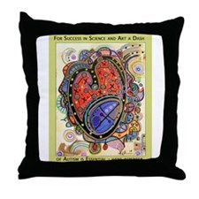 AutismHeart Throw Pillow
