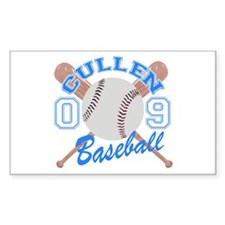 Cullen Baseball 09 Rectangle Decal