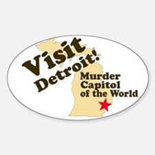 Visit Detroit, Murder Capitol Oval Decal