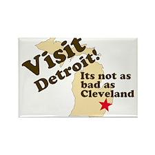 Visit Detroit, Its Not as Bad Rectangle Magnet
