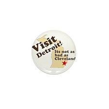 Visit Detroit, Its Not as Bad Mini Button (10 pack