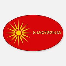 Macedonia (vergina) Oval Decal