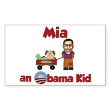Mia - an Obama Kid Rectangle Decal