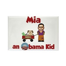 Mia - an Obama Kid Rectangle Magnet