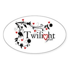 Twilight Girl Oval Decal