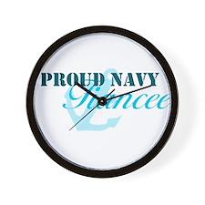 Proud Navy Fiancee Wall Clock