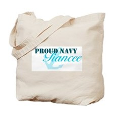 Proud Navy Fiancee Tote Bag