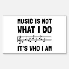 Music Who I Am Decal