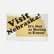 Visit Nebraska, Not As Boring Rectangle Magnet (10