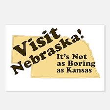 Visit Nebraska, Not As Boring Postcards (Package o