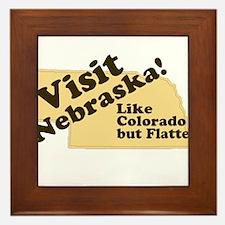 Visit Nebraska, Like Colorado Framed Tile