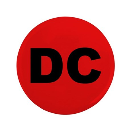 """DC (Red and Black) 3.5"""" Button"""