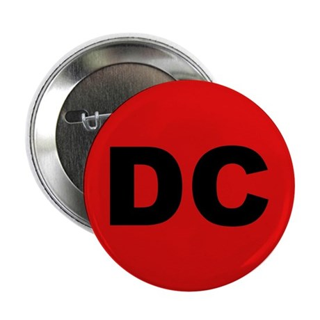 "DC (Red and Black) 2.25"" Button (100 pack)"