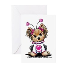 Love Bug Yorkie Greeting Card