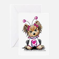 Love Bug Yorkie Greeting Card