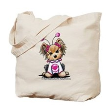 Love Bug Yorkie Tote Bag